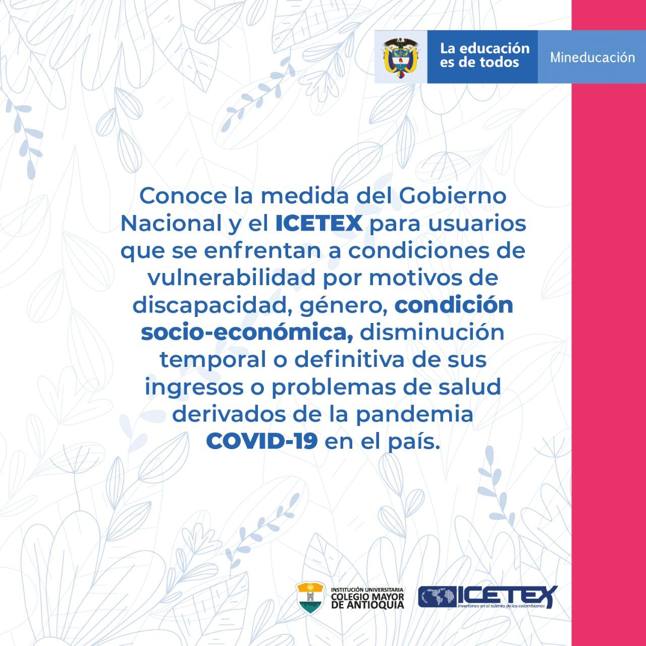creditos educativos icetex 2020 colmayor