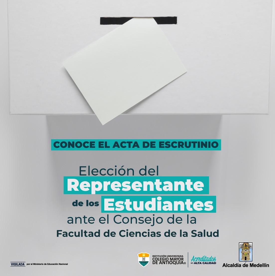 NUEVO REPRESENTANTE DE LOS ESTUDIANTES AL CONSEJO DE FACULTAD DE CIENCIAS DE LASALUD