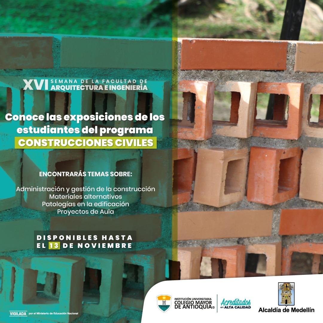 AGENDA DE CONSTRUCCIONES CIVILES, EN LA 16 SEMANA DE LA FACULTAD DE ARQUITECTURA E INGENIERÍA