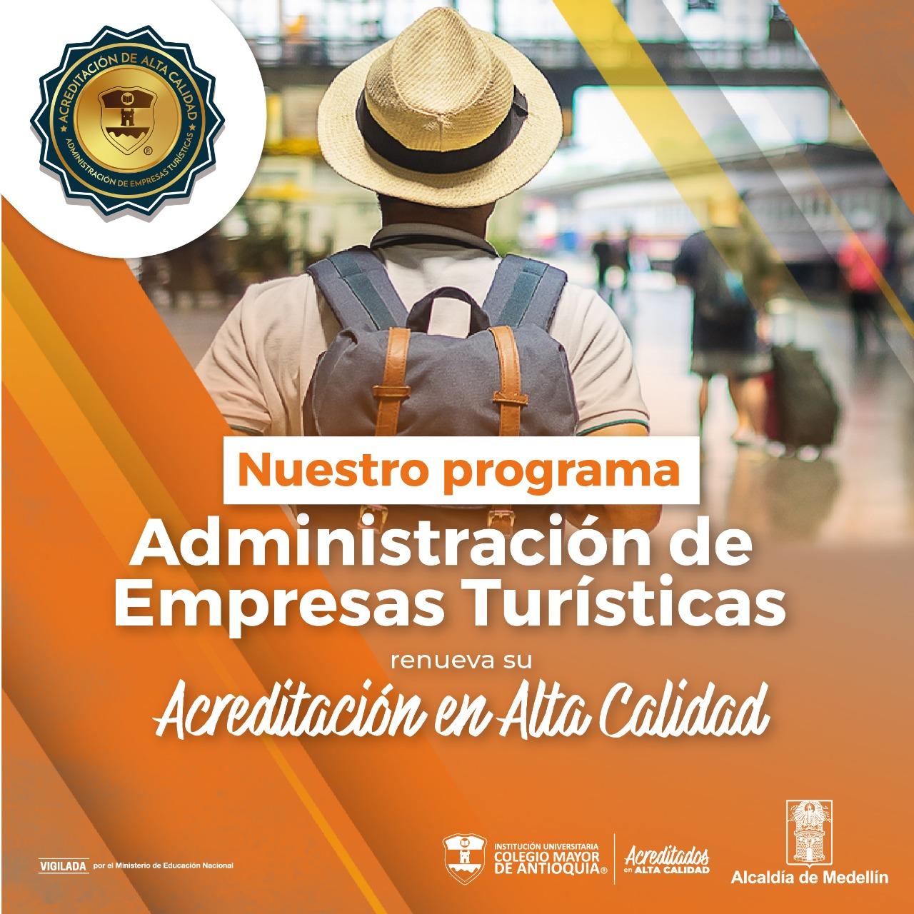 RENOVACIÓN DE ACREDITACIÓN PARA ADMINISTRACIÓN DE EMPRESAS TURÍSTICAS