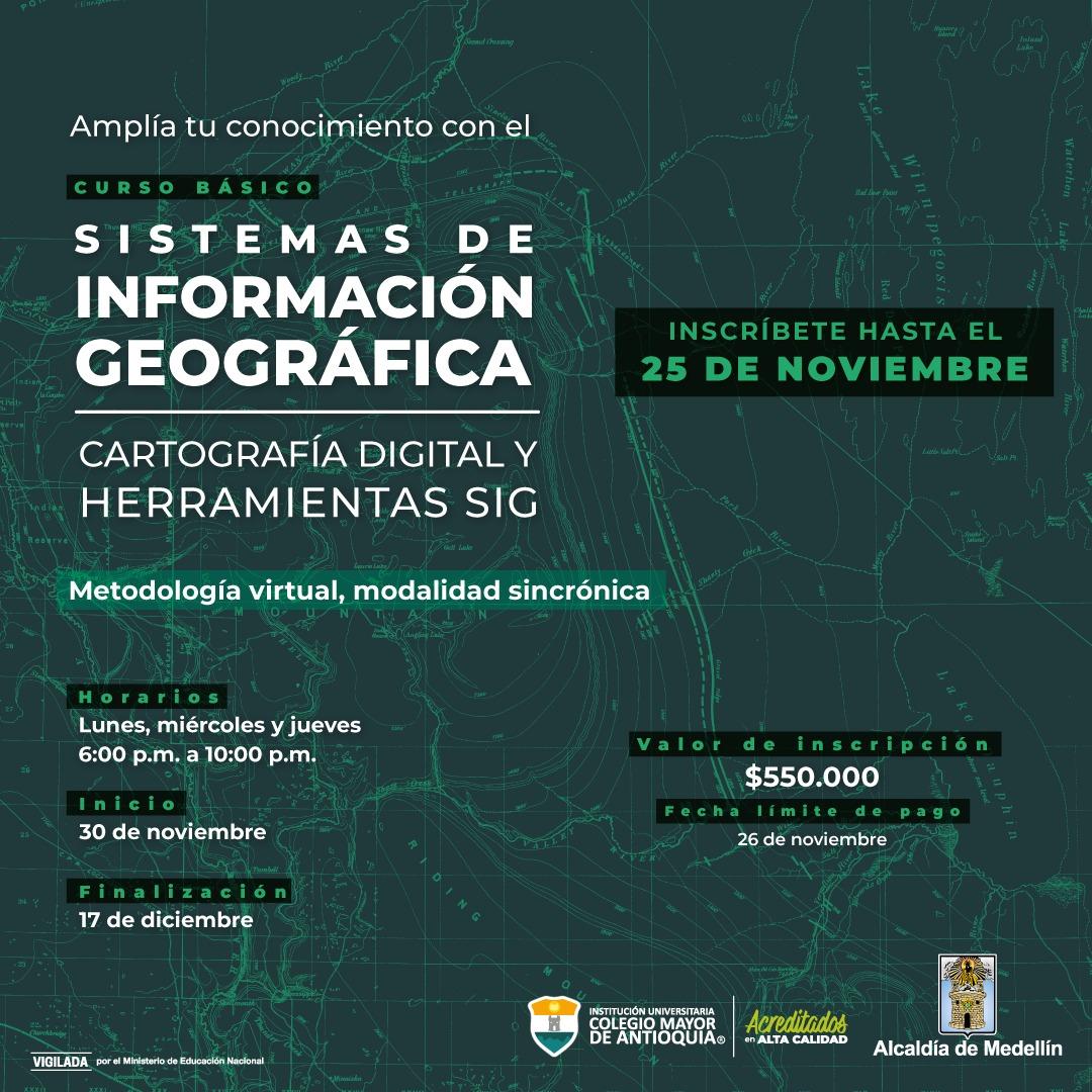 CURSO BÁSICO DE SISTEMAS DE INFORMACIÓN GEOGRÁFICA. CARTOGRAFÍA DIGITAL Y HERRAMIENTAS SIG