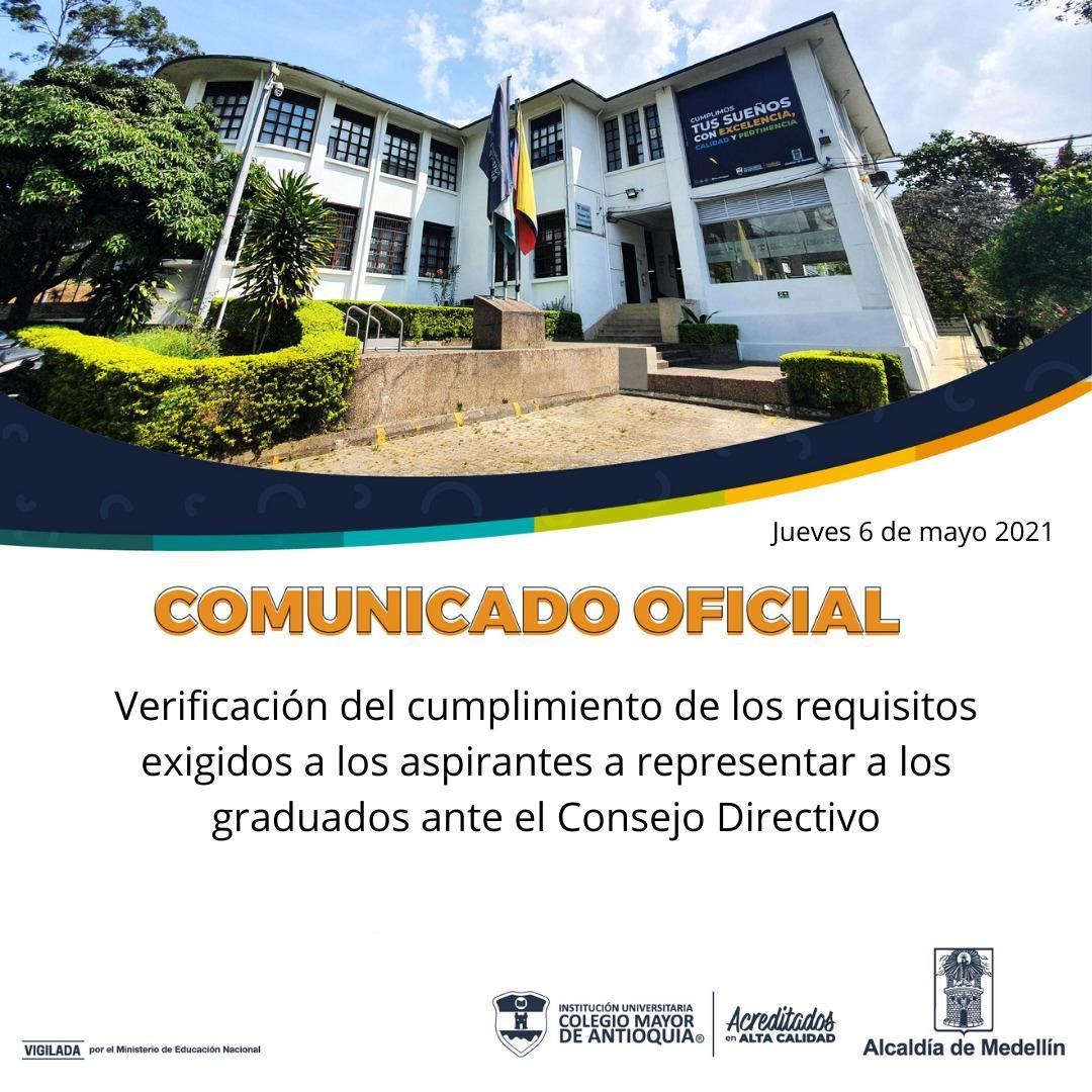Verificación de requisitos para representantes de los graduados ante el Consejo Directivo