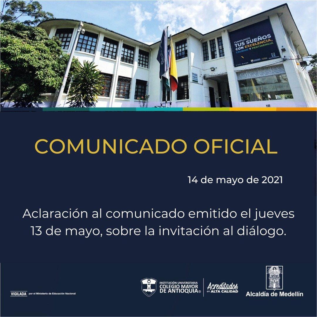 Comunicado: aclaración al comunicado emitido el jueves 13 de mayo