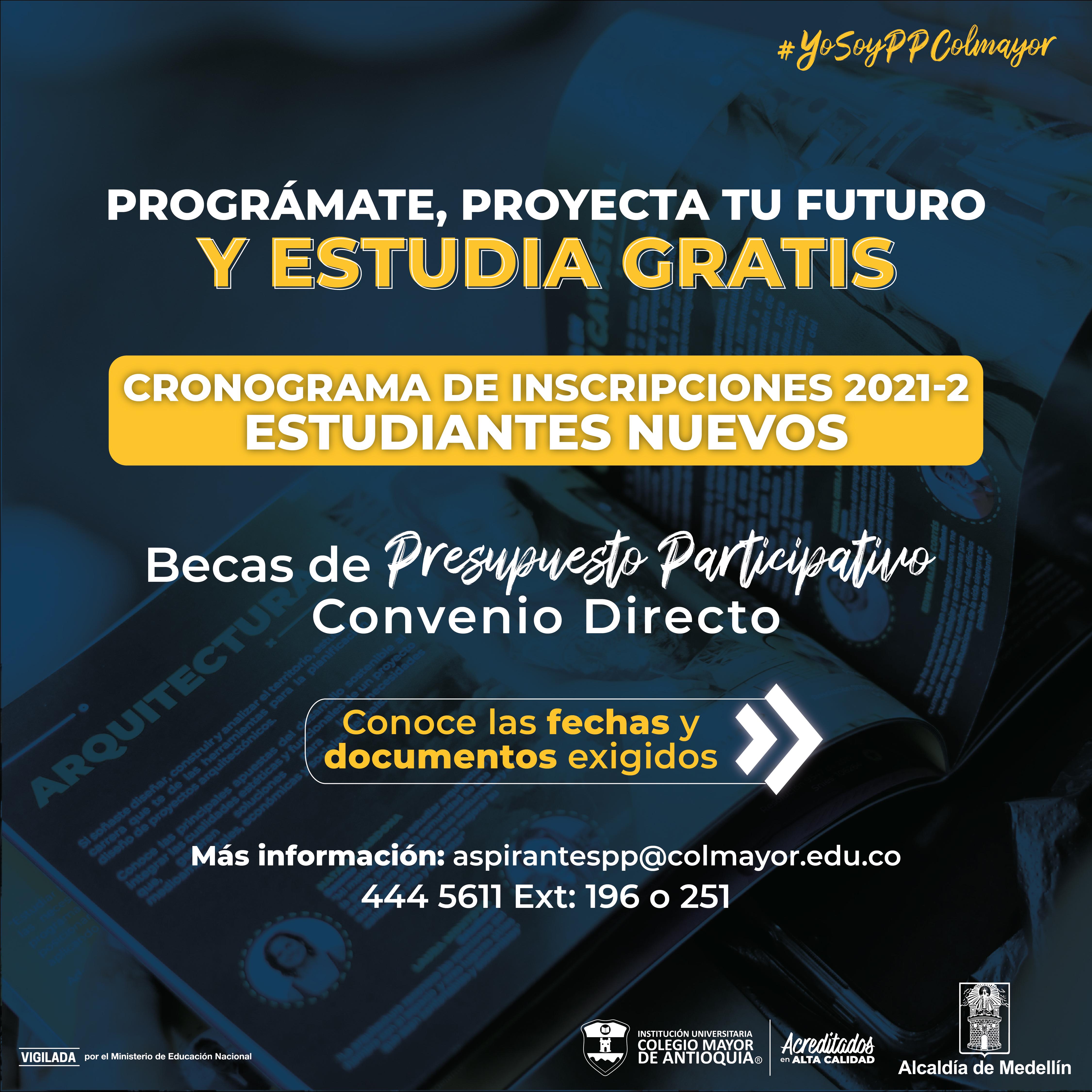 Conoce el cronograma de Presupuesto Participativo convenio directo para estudiantes nuevos