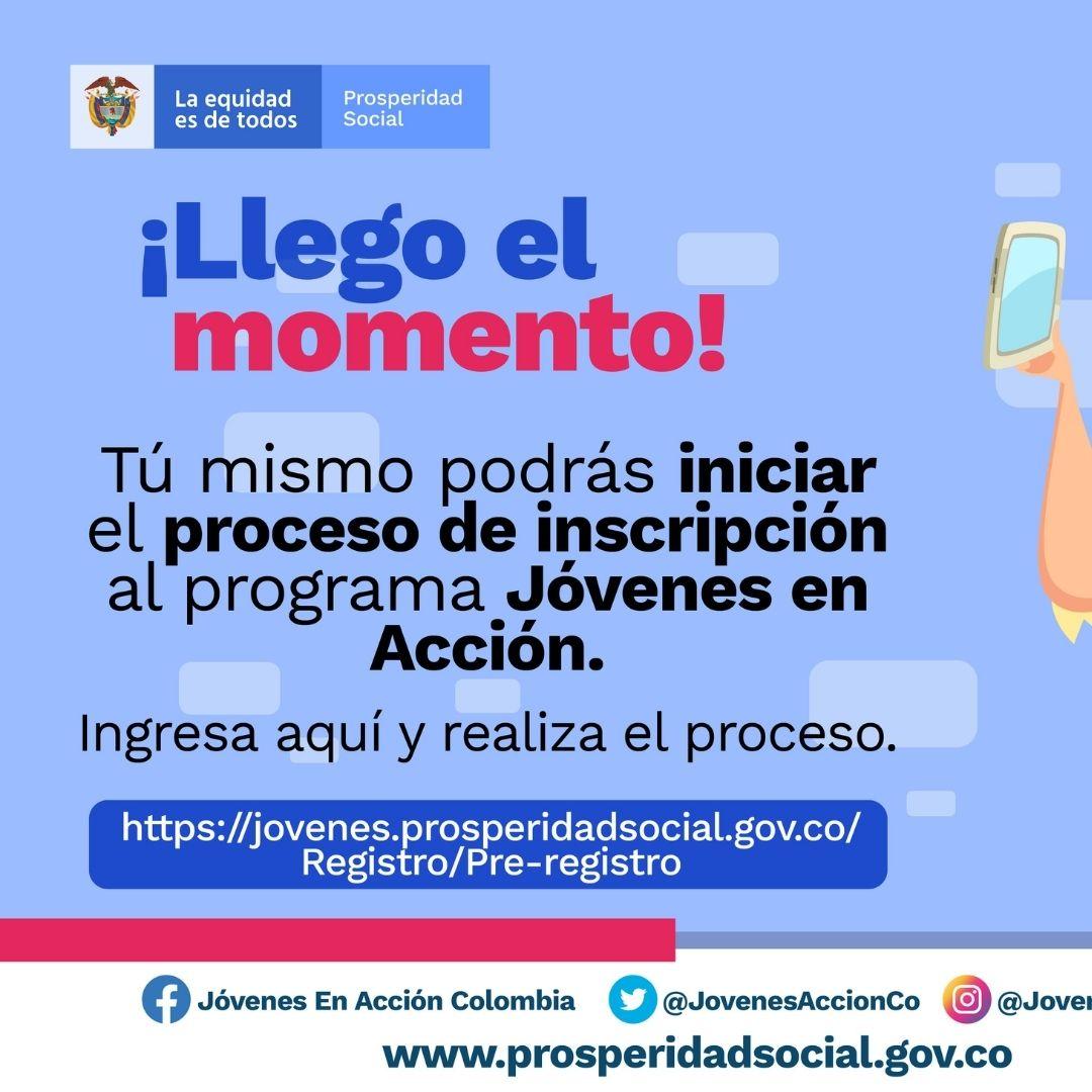 Pre-registro virtual al programa Jóvenes en Acción