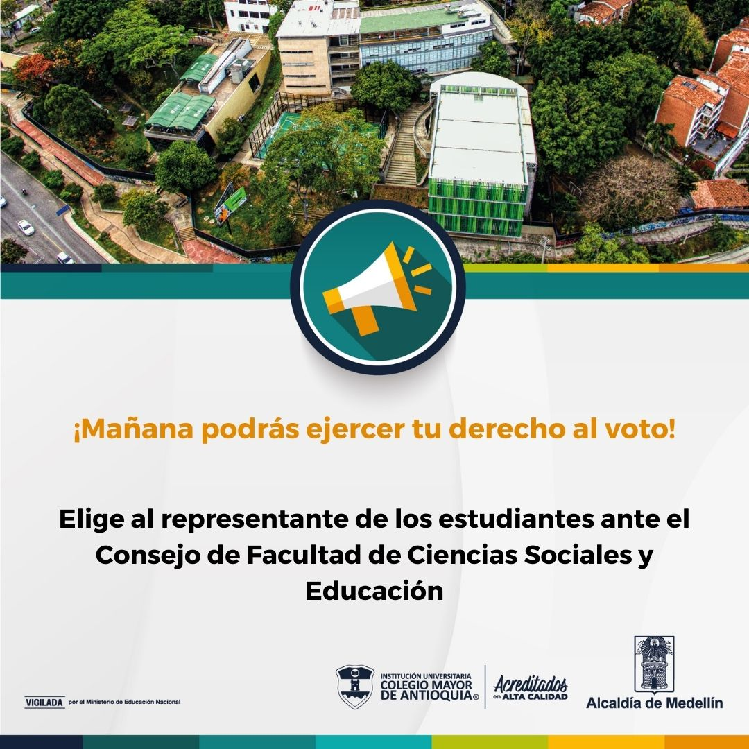 Elige al estudiante representante de la Facultad de Ciencias Sociales y Educación
