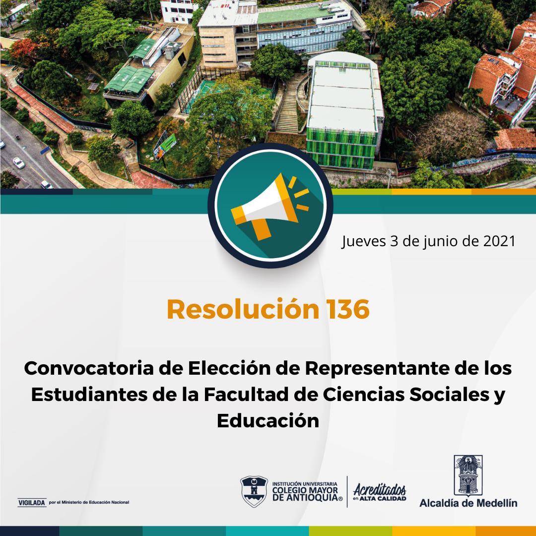 Elección de Representante de los Estudiantes de la Facultad de Ciencias Sociales y Educación