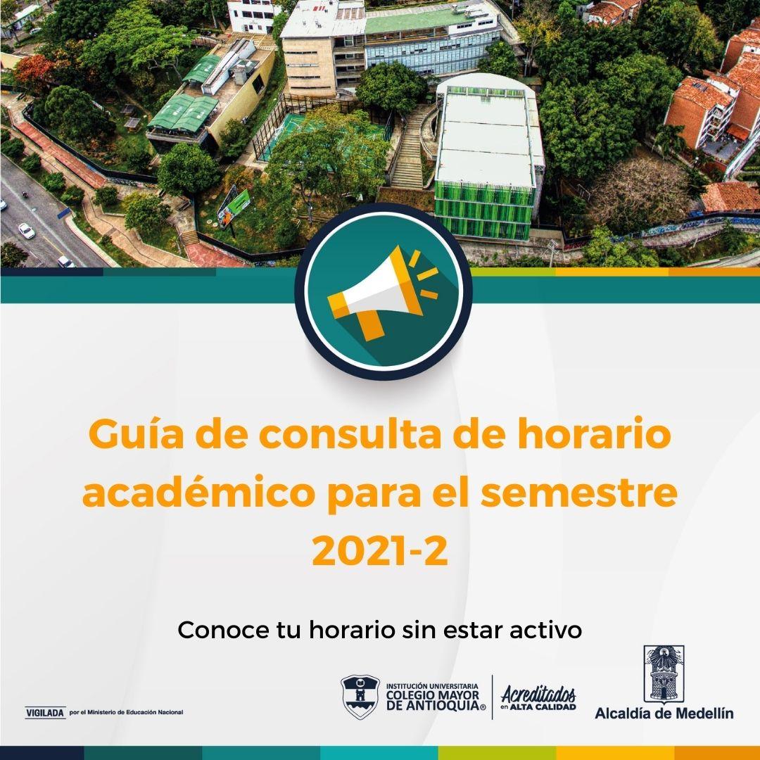 Guía para conocer el horario académico 2021-2