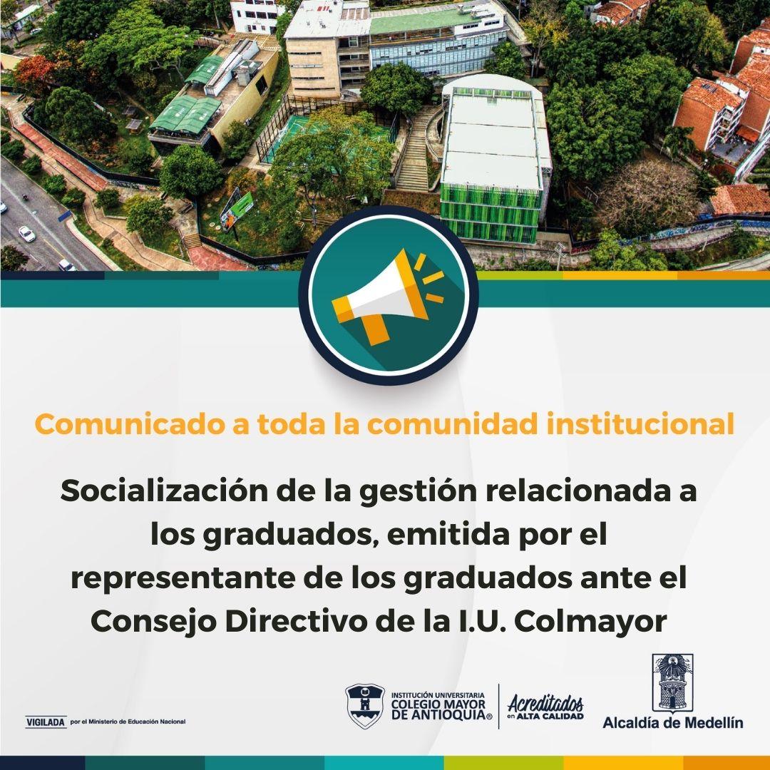 Comunicado del Representante de los graduados sobre la gestión