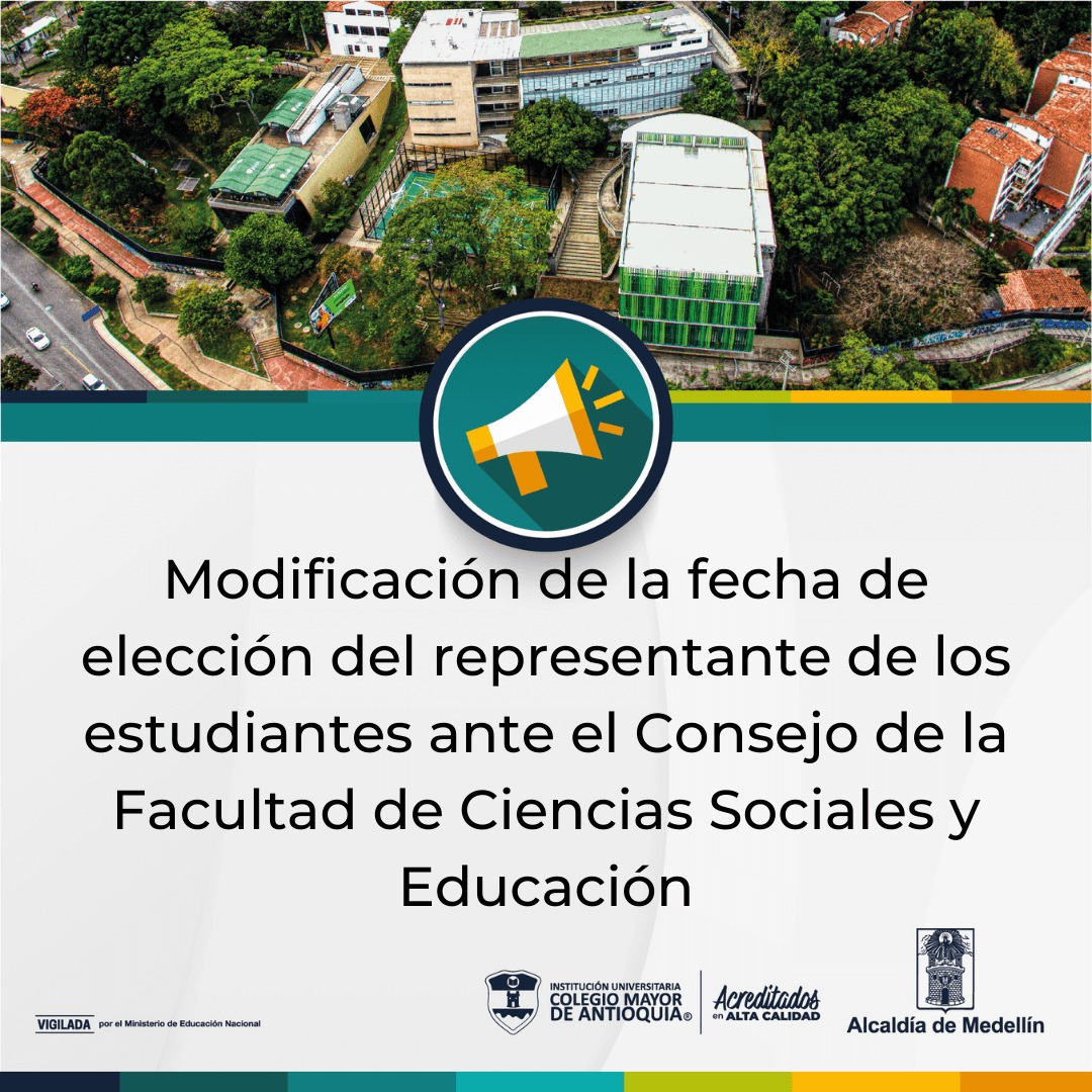 Modificación fecha: elección representante de los estudiantes Fac. Ciencias Sociales y Educación